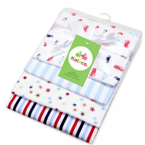 Girls Baby 4 Pack Cotton Knitted Soft Br